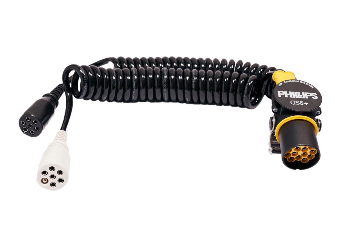 15 Pin/7 Pin Adapter QS6 + spiral connector